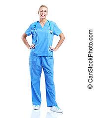 Doctora médica profesional.