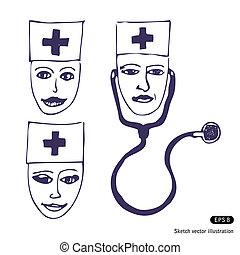 Doctores. Tres caras de icono