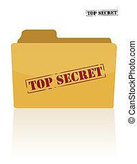 documento, secreto, carpeta