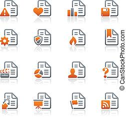 Documentos íconos - 2 / serie de grafitos