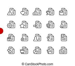 Documentos iconos - set 2 de 2 / / serie de puntos rojos