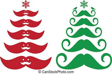 Dolor de árboles de Navidad, vector