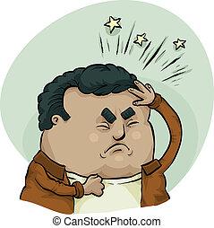 Doloroso dolor de cabeza