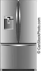 doméstico, unidad, refrigerador