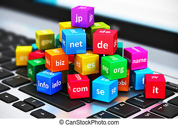 dominio, concepto, nombres, internet