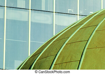 Domo verde con vidrio