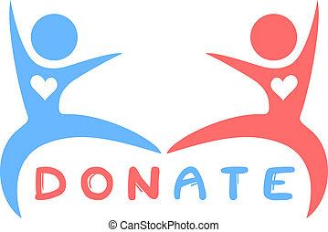 Donación de etiqueta