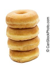 Donut aislado en blanco de fondo
