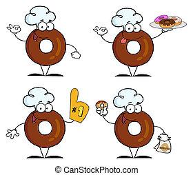 Donuts dibuja personajes