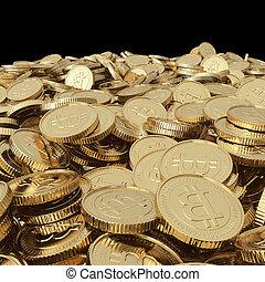 dorado, coins, bitcoin, balck