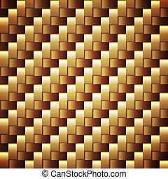 dorado, cuadrado, seamless, vector, palmeado, texture.