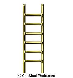 dorado, escalera, 3d