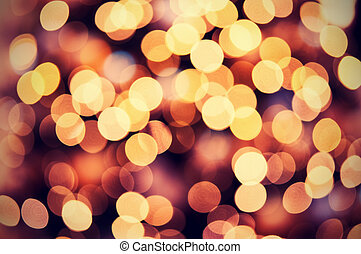 dorado, luces, bokeh, plano de fondo, navidad, rojo