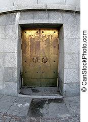 dorado, puerta