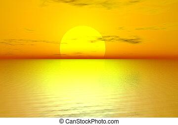 dorado, salida del sol