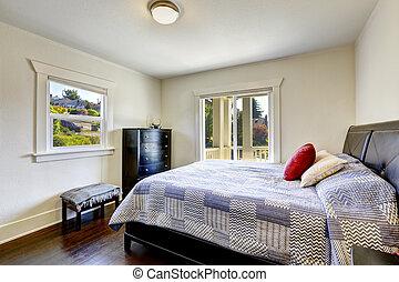 Dormitorio con plataforma de salida