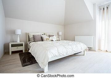 Dormitorio espacioso con cama gemela