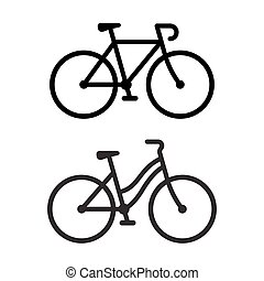Dos íconos de bicicleta