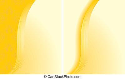 Dos antecedentes amarillos abstractos