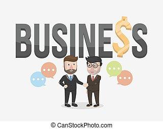 Dos apretón de manos de hombre de negocios