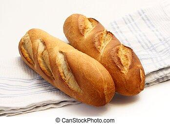Dos baguettes frescas