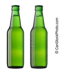 Dos botellas de cerveza