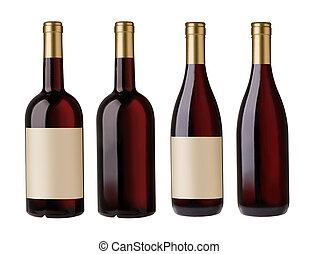 Dos botellas de vino tinto