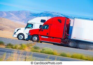 Dos camiones de velocidad