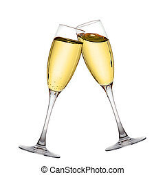 Dos copas de champán elegantes