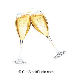 Dos copas de champaña
