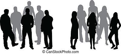 Dos grupos de personas