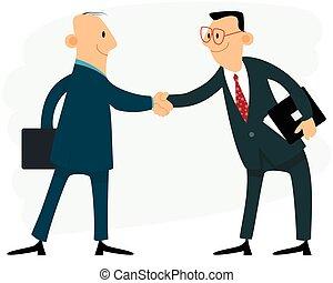 Dos hombres de negocios apretón de manos
