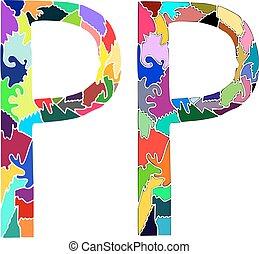 Dos letras coloridas