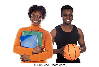 Dos maestros africanos americanos