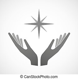 Dos manos ofreciendo una chispa