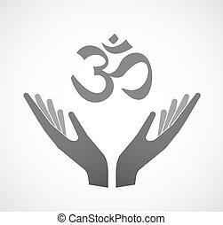 Dos manos ofreciendo una señal