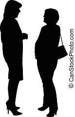 Dos mujeres, hablando entre ellas