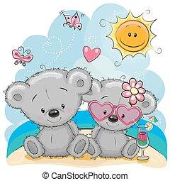 Dos osos en la playa