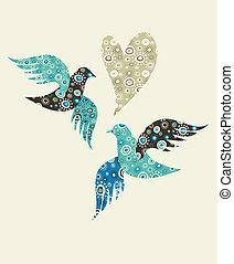 Dos palomas y un corazón