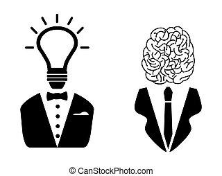 Dos personas inteligentes lideran el icono