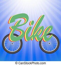 Dos ruedas de bicicleta