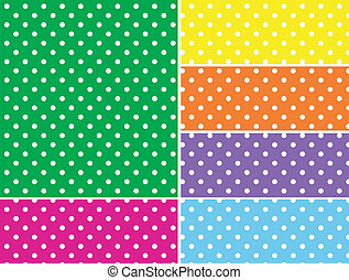 Dotted vectores observa en 6 colores