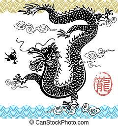dragón chino, tradicional