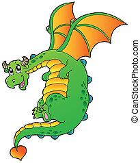 Dragón de cuentos de hadas voladores
