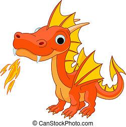Dragón de fuego Cartoon