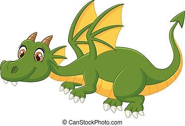 Dragón Verde de Cartoon