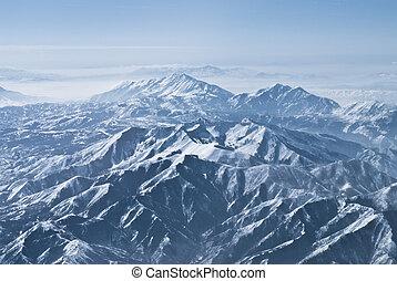 dramático, gamas de la montaña, montañas rocosas