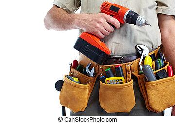 drill., herramienta, factótum, cinturón