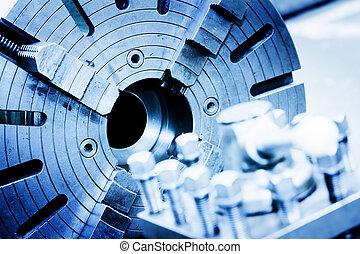 Drilling, aburrida y molinera en el taller. Industria