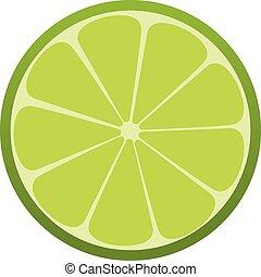 drink., citrus., refrescante, vector, verde, icon., cal, illustration.